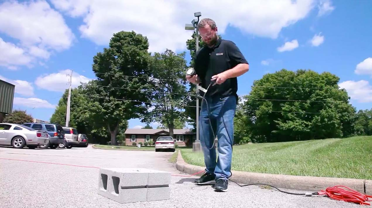 BATLite vs Concrete Block Video Frame 5